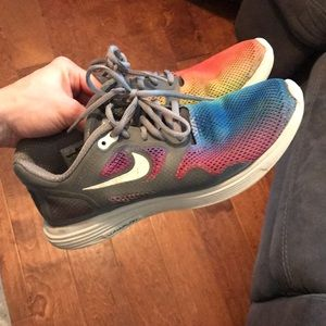Nike RAINBOW Lunarlon shoe size 7 men's, 8 womens